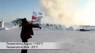 Instant vapor - Freezing boiling water at North Pole