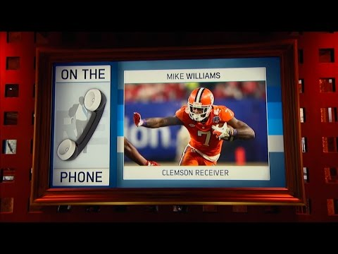 Clemson WR Mike Williams Talks DeShaun Watson NFL Draft & More 4 18 17