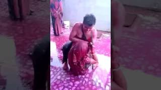 Men and Women play a wildly Holi  in Haryana, Dirty Holi