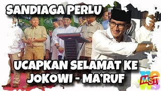 Tak Ikut Konpres Prabowo, Sandiaga Perlu Ucapkan Selamat ke Jokowi