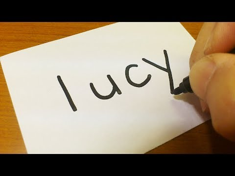 Xxx Mp4 How To Turn Words LUCY(Fairy Tail Japanese ANIME)into A Cartoon How To Draw Doodle Art On Paper 3gp Sex