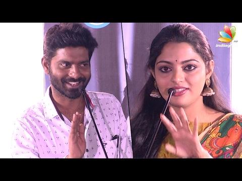 Malayalam Actress Nikhila Vimal calling her pair Ma Ka Pa Anand as ANNA | Panju mittai Audio Launch