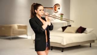 Lucy Pinder Tromboning