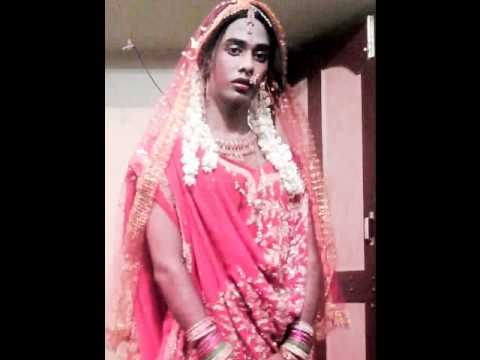 Indian crossdresser rani begam in sares......