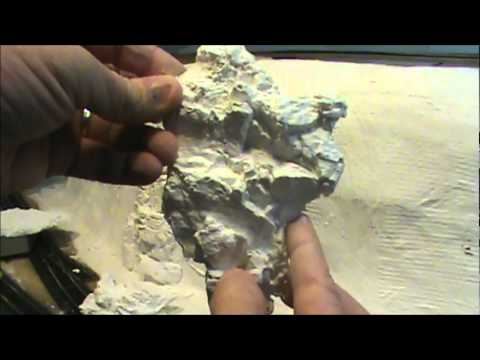 Making rocks and installing on Railroad layout.wmv