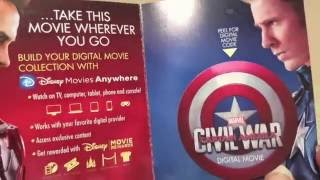 Captain America Civil War Steelbook Unboxing and free HD Download code give-a-way