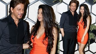 Shah Rukh Khan With HOT Daughter Suhana Khan At Gauri Khan's Restaurant Launch
