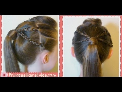 Xxx Mp4 Double Braided Edgy Ponytail Hairstyle Back To School 3gp Sex