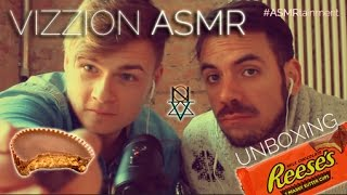 REESES Chocolate Unboxing & Eating Sounds | Male Whisper | VIZZION ASMR