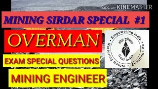 MINING SIRDAR || OVERMAN  IMP QUESTIONS SECL
