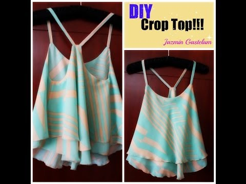 DIY How To Make A Crop Top Como Hacer Un Crop Top