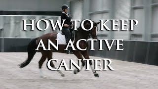 How Do I Keep My Lazy Horse Cantering Without Using Leg All The Time? - Dressage Mastery TV Ep 93