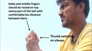 How to bowl a arm ball (Type three) - Left arm spin bowling