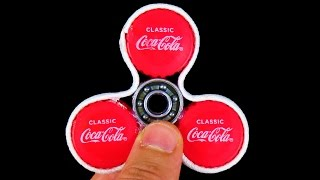 HOW TO MAKE A SIMPLE FIDGET SPINNER! (IT SPINS FOREVER!)