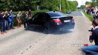 BMW M5 E60 NEARLY HITS THE CROWD! & LOUD Sounds!