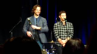 Jensen Ackles and Jared Padalecki GOLD Panel Supernatural VegasCon 2018   part 1