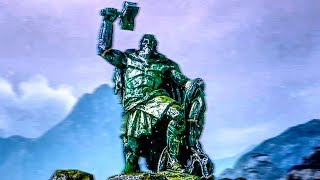 GOD OF WAR 4 Thor Side Mission Gameplay Walkthrough (Destroy The Statue Of Thor) PS4 PRO 60FPS