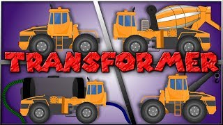 Transformers | Water Tank | Tow Truck | Cement Mixer | Video For Toddlers