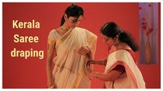 How to Wear a Kerala Saree Perfectly? Kerala Sari Draping Tutorial
