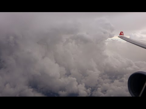 Swiss Airbus A330 300 Massive thunderstorms upon landing in Miami