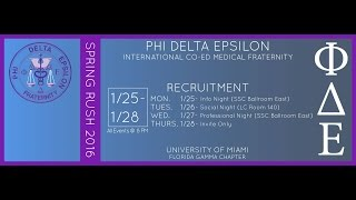 PhiDE Recruitment Spring 2016