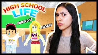 BULLIED BY A CHEERLEADER! - High School Life - Roblox