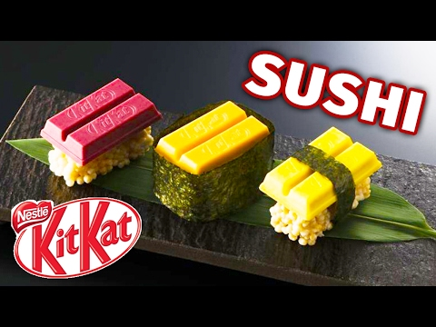 Japanese Sushi Kit Kats Taste Test