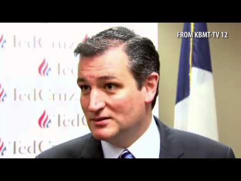 Ted Cruz Owns a Reporter in Beaumont, TX on Question About Gay Marriage