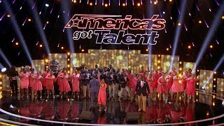 America's Got Talent 2017 DaNell Daymon & Greater Works Performance & Comments Judge Cuts S12E11