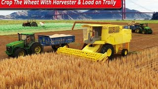 Real Tractor Farming Simulator 2018 #Android Gameplay #Tractor Driving Video Games For Kids #Games