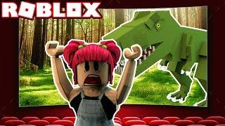 JURASSIC WORLD! | Roblox ESCAPE THE CINEMA OBBY! | Amy Lee33