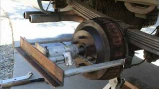 stuck brake drum removal