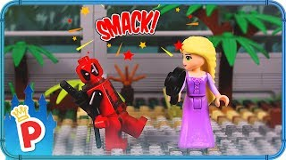 ♥ LEGO Rapunzel Fights Deadpool in LEGO Fighting Championship