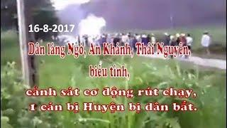 Sáng 16/08/2017, dân làng Ngò, An Khánh, Thái Nguyên, biểu tình My Movie
