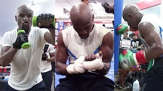 FLOYD MAYWEATHER ON FIRE; FIRST OFFICIAL LOOK INTO TRAINING CAMP FOR MCGREGOR CLASH (IN GREAT SHAPE)