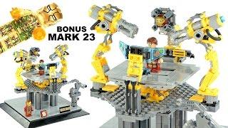 Iron Man 2017 Suit-Up Gantry w/ MK 46 bonus MK 23 Extreme Heat Suit Unofficial LEGO Knockoff Set