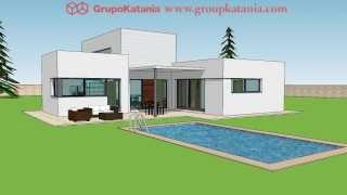 Villa Hondon. Modern villa designed by Grupo Katania to build in Hondon de las Nieves, Alicante.