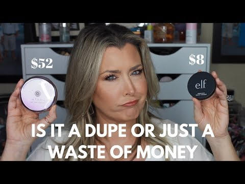 IS IT A DUPE OR JUST A WASTE OF MONEY ELF PORELESS PUTTY VS TATCHA