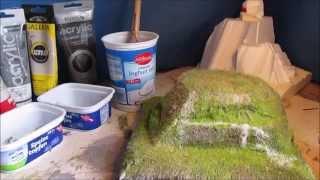 Bauanleitung Modellbau Hügel,Tabletop Tutorial Hügel