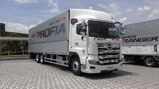 【4K動画】最新型(HINO)プロフィア(PROFIA)日野自動車(平成30年式)エンジン(2017年型)大型トラック
