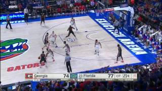 Florida vs Georgia Basketball OT Highlights