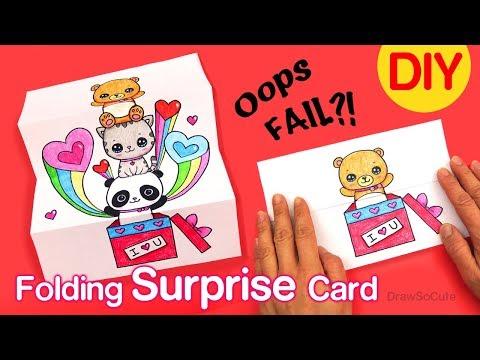 Xxx Mp4 How To Make A Folding Surprise Card Cute Animals 3gp Sex