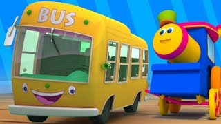 Bob o trem | rodas no ônibus | crianças canção | Wheels On The Bus Song