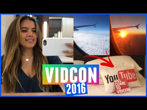 ARRIVING TO VIDCON 2016 | Creators Goodie Bag Haul