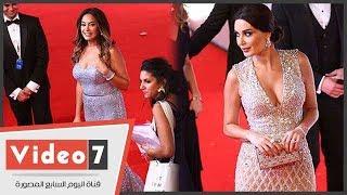 اطلالة مثيرة للنجمتين سيرين عبد النور وهند صبرى بإفتتاح مهرجان الجونة