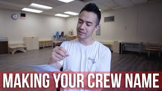Making A Crew Name