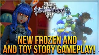 Kingdom Hearts 3 - NEW Frozen And Toy Story Gameplay, Goofy Sledding and Combos!