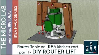 DIY - EASY AND CHEAP ROUTER LIFT MECHANISM! (on Ikea kitchen cart...) part 1