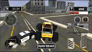 Police Chase Monster Truck in City / Police Cars Games / Android gameplay FHD