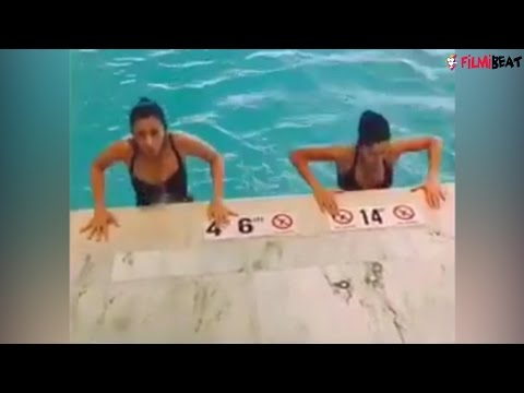 Xxx Mp4 Alia Bhatt And Katrina Kaif S Hot Workout Video In Swimming Pool Goes Viral Filmibeat 3gp Sex